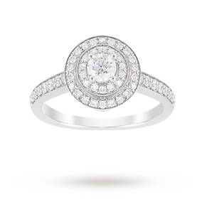 Jenny Packham Brilliant Cut 1.20 Carat Total Weight Doubl ...