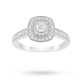 Jenny Packham Cushion Cut 0.70 Carat Total Weight Double ...