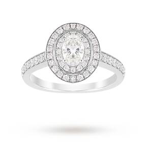 Jenny Packham Oval Cut 1.21 Carat Total Weight Double Hal ...