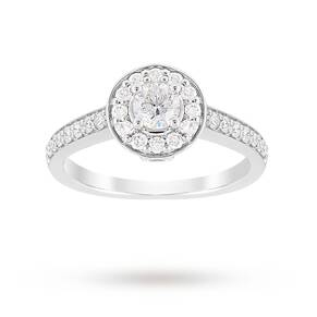 Jenny Packham Brilliant Cut 0.85 Carat Total Weight Halo ...