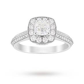 Jenny Packham Cushion Cut 0.95 Carat Total Weight Halo Di ...