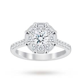 Jenny Packham 18 Carat White Gold 1.00 Carat Diamond 8 Cl ...