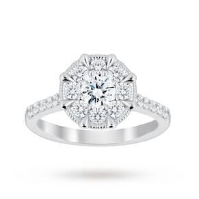 Jenny Packham 18 Carat White Gold 0.50 Carat Diamond 8 Cl ...