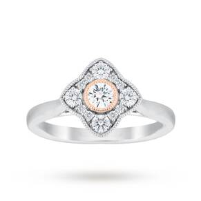 Jenny Packham 18 Carat White Gold 0.50 Carat Diamond Clus ...