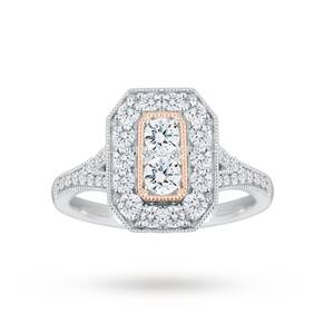 Jenny Packham 18 Carat White Gold 0.90 Carat Diamond Ring ...