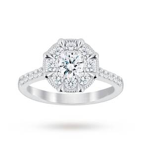 Jenny Packham Platinum 0.50 Carat Diamond 8 Claw Multi Stone Ring