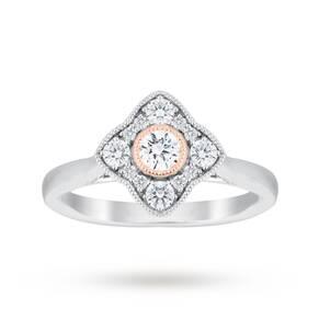 Jenny Packham Platinum 0.50 Carat Diamond Cluster Ring Wi ...