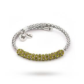 Chrysalis Charisma Peridot Crystal Wrap Bangle