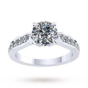 Boscobel Engagement Ring With Diamond Band 0.64 Carat Total Weight