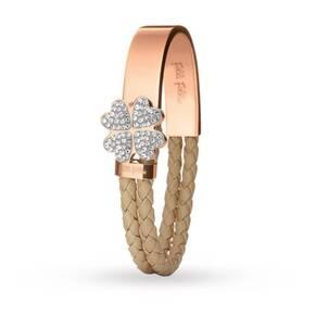 Folli Follie Bonding Bracelets Rose & Caramel Heart4Heart Motif