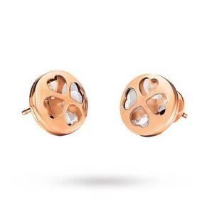 Folli Follie Heart4Heart Win Stud Earrings Clear Rose