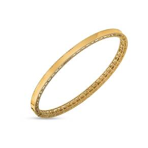Roberto Coin Symphony 18ct Yellow Gold Plain Bangle