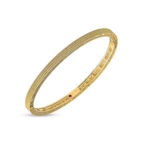 Roberto Coin Symphony 18ct Yellow Gold Pattern Bangle