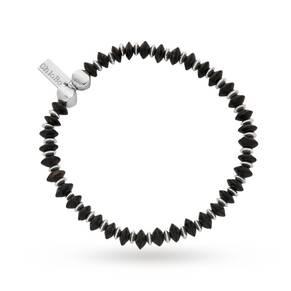 ChloBo Mens Black Horn Rondelle Disc Bracelet