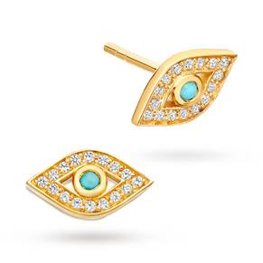 Astley Clarke White Sapphire Mini Evil Eye Biography Stud Earrings