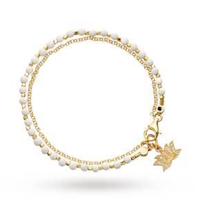 Astley Clarke Agate Lotus Biography Bracelet