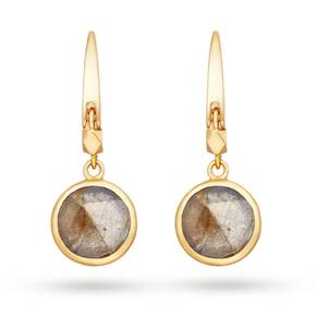 Astley Clarke Mini Labradorite Round Stilla Earrings