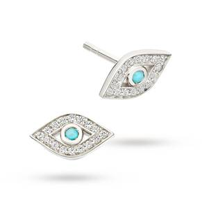 Astley Clarke Mini Evil Eye Biography Stud Earrings