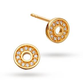 Astley Clarke Mini Open Halo Biography Stud Earrings