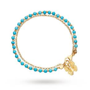 Astley Clarke Turquoise Butterfly Biography Bracelet