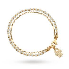 Astley Clarke Rainbow Moonstone Hamsa Biography Bracelet