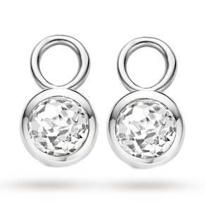 Ti Sento Silver Cubiz Zirconia Earring Charms