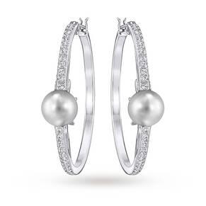 SWAROVSKI Fantastic Hoop Pierced Earrings