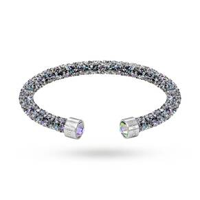 SWAROVSKI Jewellery Ladies' Stainless Steel Crystaldust Cuff Bangle Medium