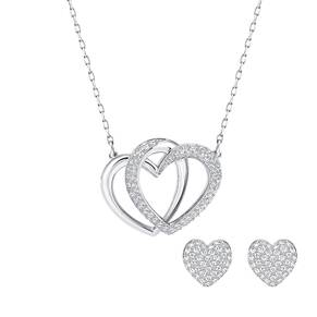 SWAROVSKI Jewellery Ladies' Rhodium Plated Dear Heart Set