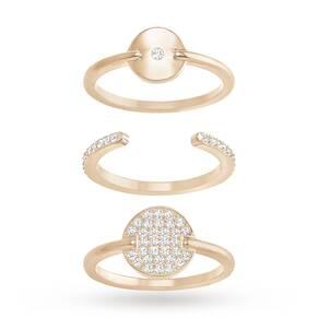SWAROVSKI Ginger White Crystal Ring Set