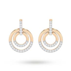 SWAROVSKI Circle Rose Gold Plated Earrings
