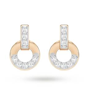 SWAROVSKI Circle Rose Gold Plated Stud Earrings