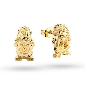 Disney Couture Beauty & the Beast Cogsworth Clock Stud Earrings