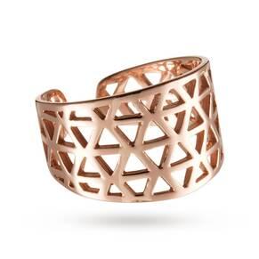 Kirstin Ash Triangle Filigree Ring 18k-Rose Gold-Vermeil