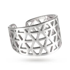 Kirstin Ash Triangle Filigree Ring Sterling-silver