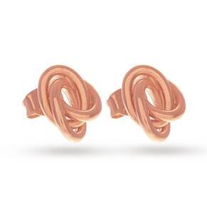 Olivia Burton Knotted Stud Earrings Rose Gold