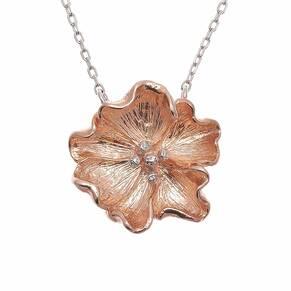 Olivia Burton Flower Show Necklace Rose Gold & Silver OBJ16FSN01