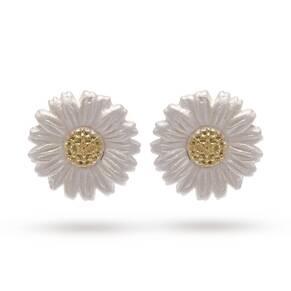 Olivia Burton Daisy Stud Earrings Silver / Gold OBJ16DAE01