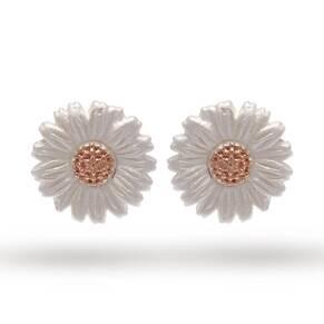 Olivia Burton Daisy Stud Earrings Silver/ Rose Gold OBJ16DAE02