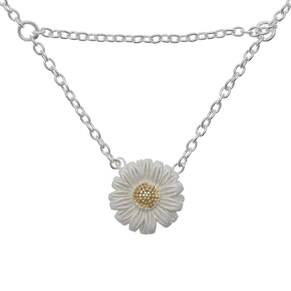 Olivia Burton Daisy Drop Necklace Silver/Gold OBJ16DAN01