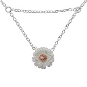 Olivia Burton Daisy Drop Necklace Silver/rose Gold OBJ16DAN02