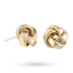 9ct Yellow Gold Polished Knot Stud Earrings