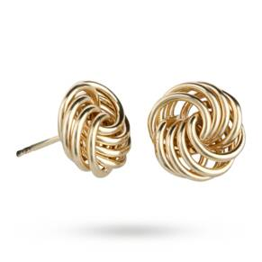 9ct Yellow Gold Polished Small Wire Knot Stud Earrings
