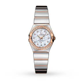 Omega Constellation Ladies 18ct Rose Gold Watch