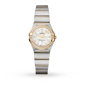 Omega Constellation Ladies 18ct Yellow Gold and Steel Watch