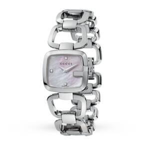 Gucci YA125502 G-Gucci Small Ladies Diamond set Watch