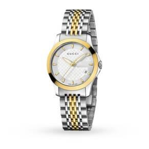 Gucci YA126511 Timeless Bi-Colour Ladies Watch