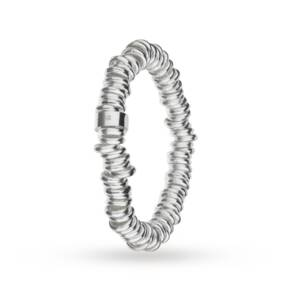 Silver Stretch Rings Bracelet