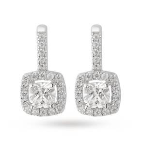 Silver Princess Cut Cubic Zirconia Stud Earrings
