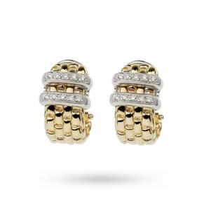 Fope Maori 18ct Gold Diamond Earrings